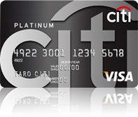 シティ プラチナカード券面画像