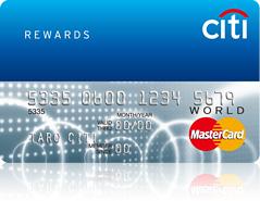 シティリワードワールドカード券面画像